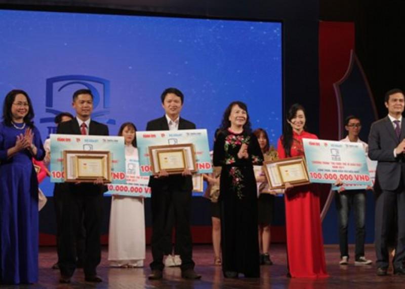 """Mỗi công trình xuất sắc nhất """"Tri thức trẻ vì giáo dục"""" được trao 100 triệu đồng"""